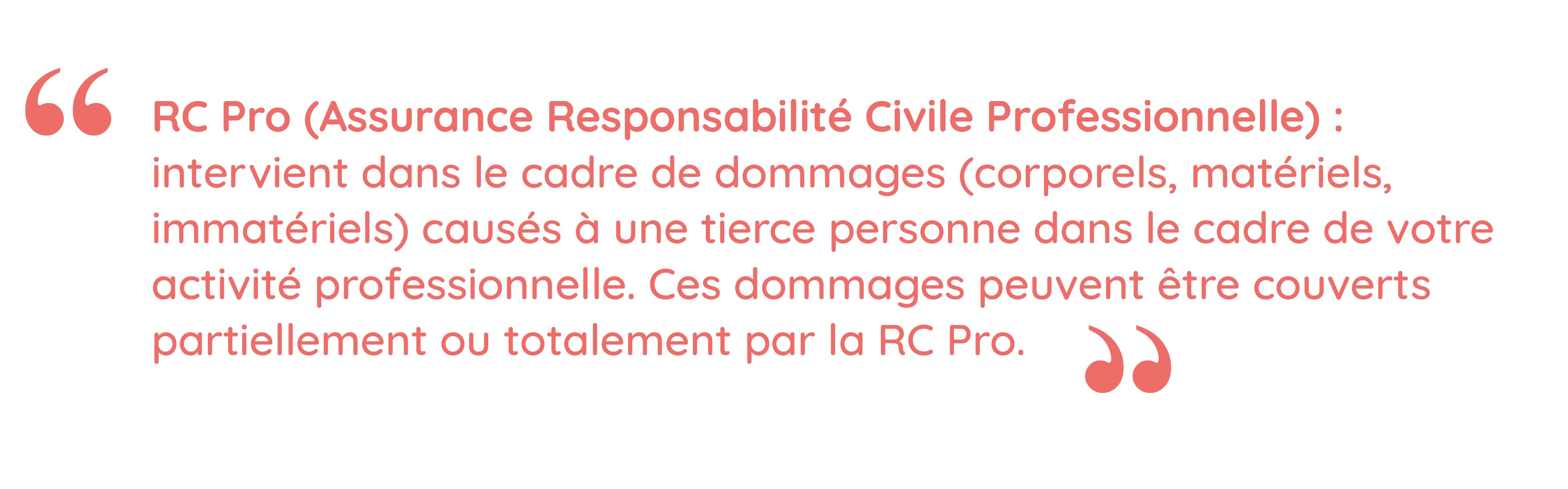 Définition de l'assurance responsabilité professionnelle, ou RC Pro